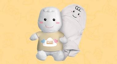 Campanha promovida por marca de fraldas envia brindes para quem realizar um chá de bebê virtual