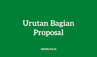 Urutan Bagian Proposal