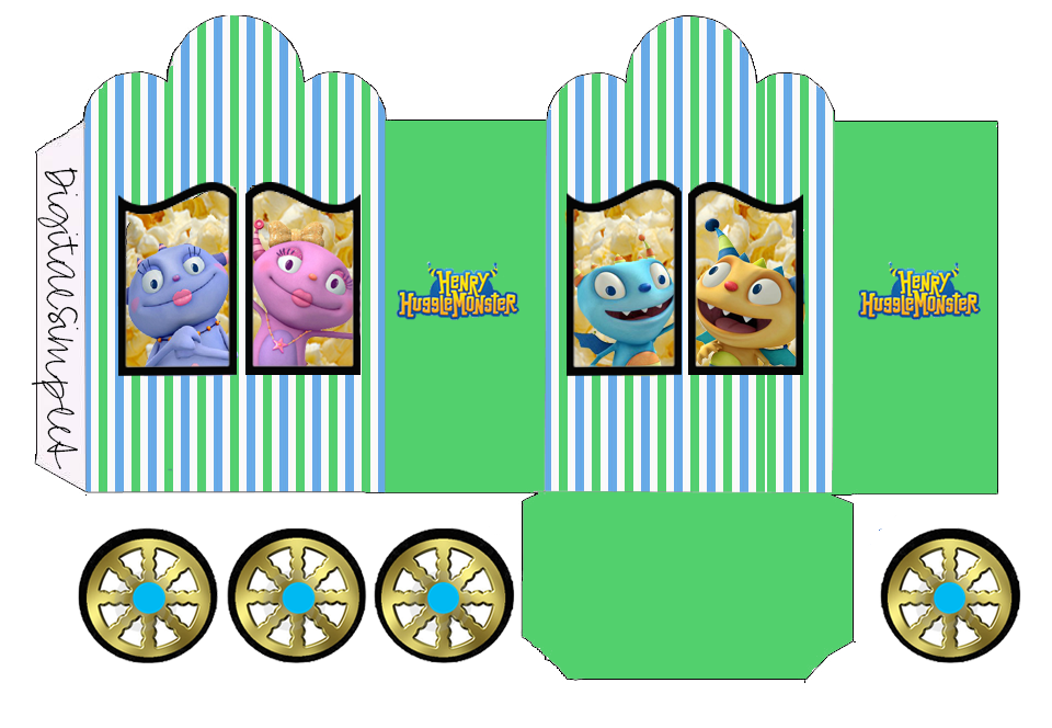 Henry Hugglemonster: Princess Carriage Shaped Free Printable Boxes.