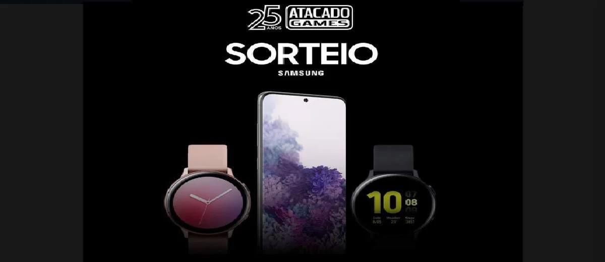 Promoção Atacado Games 25 Anos 2020 Concorra Galaxy S20+ 128GB Samsung