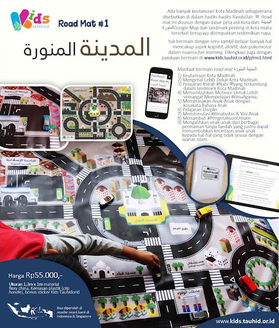Produk Mainan Edukatif: Road Mat #1 (Madinah)