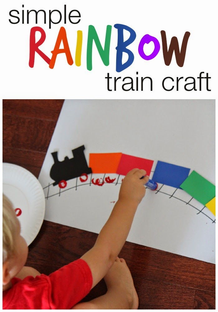 Simple Rainbow Train Craft for Kids | Toddler Approved ...