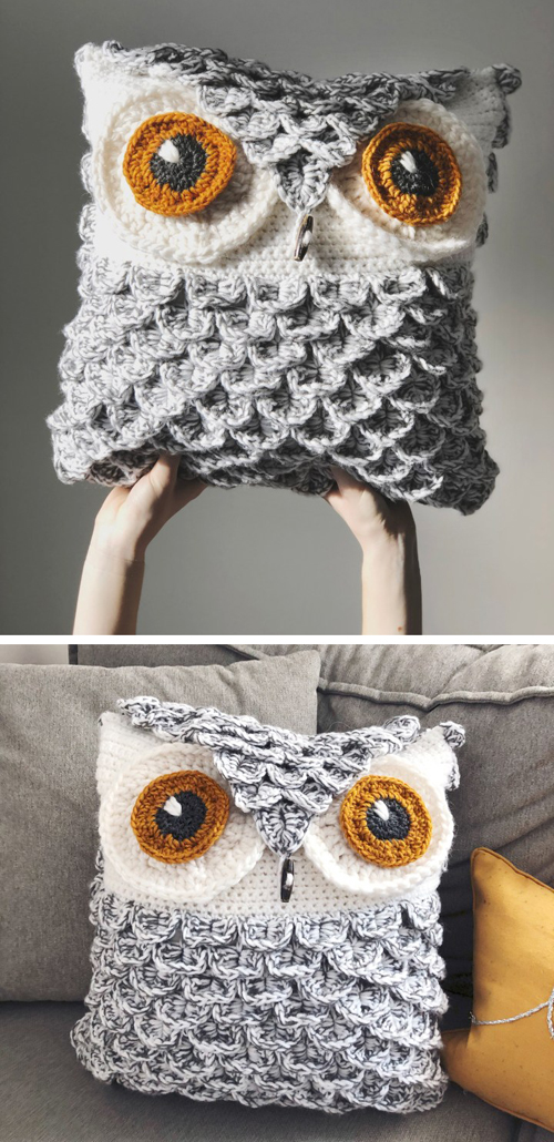 Snowy Owl Pillow - Free Pattern