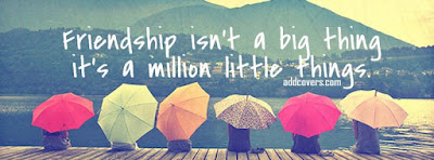 beautiful quotes on life:friendship isn't a big thing it's a million little things.
