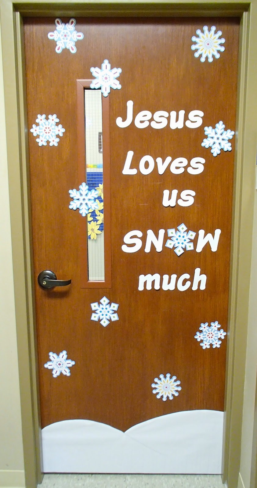 Classroom Door Decor For Winter ~ Easy breezy sunday school winter door decorations