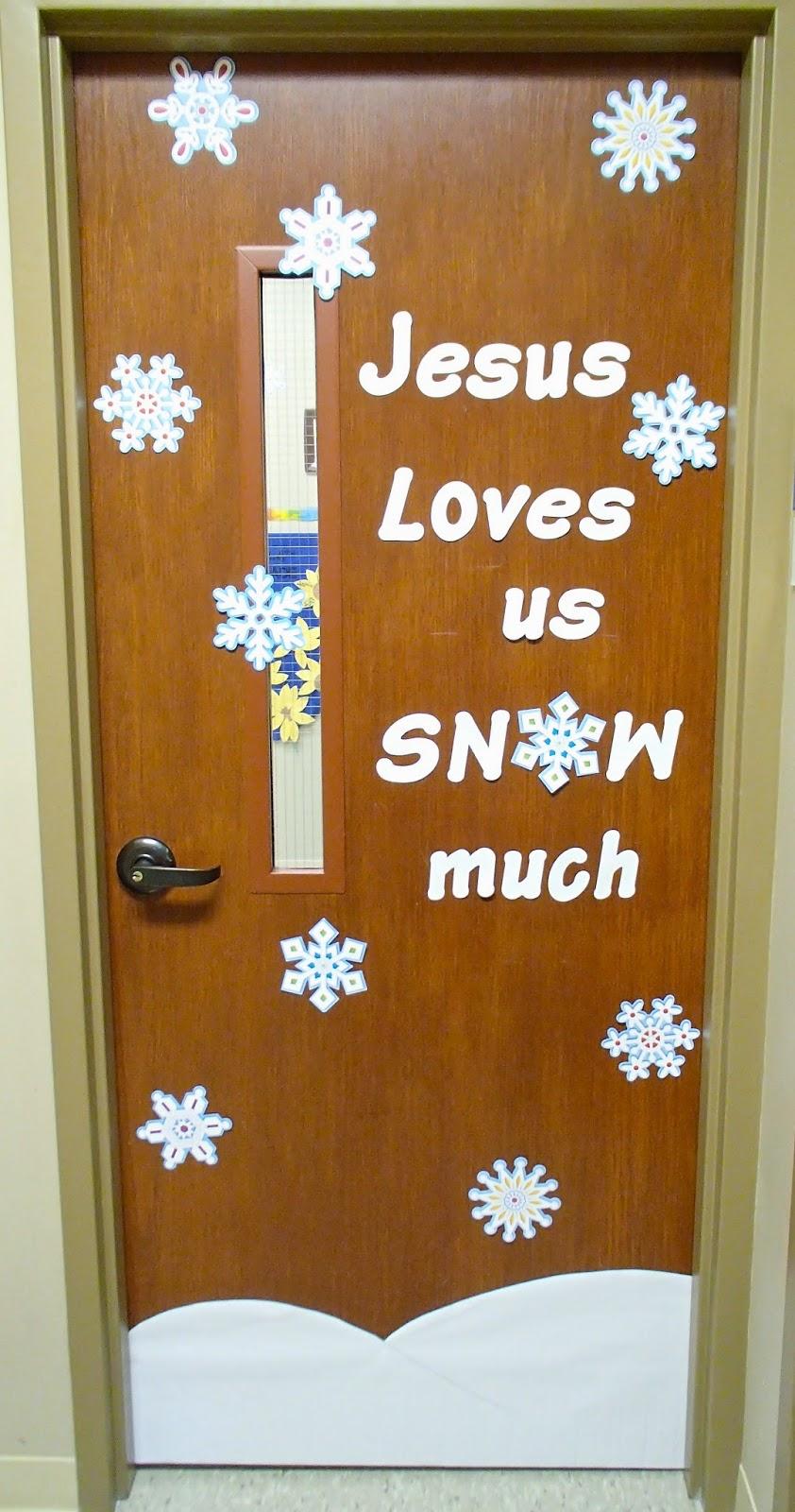 Easy Breezy Sunday School: Winter Door Decorations