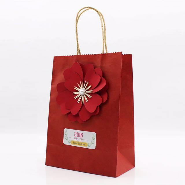 Desain Paper Bag/ Tas Belanja Bunga