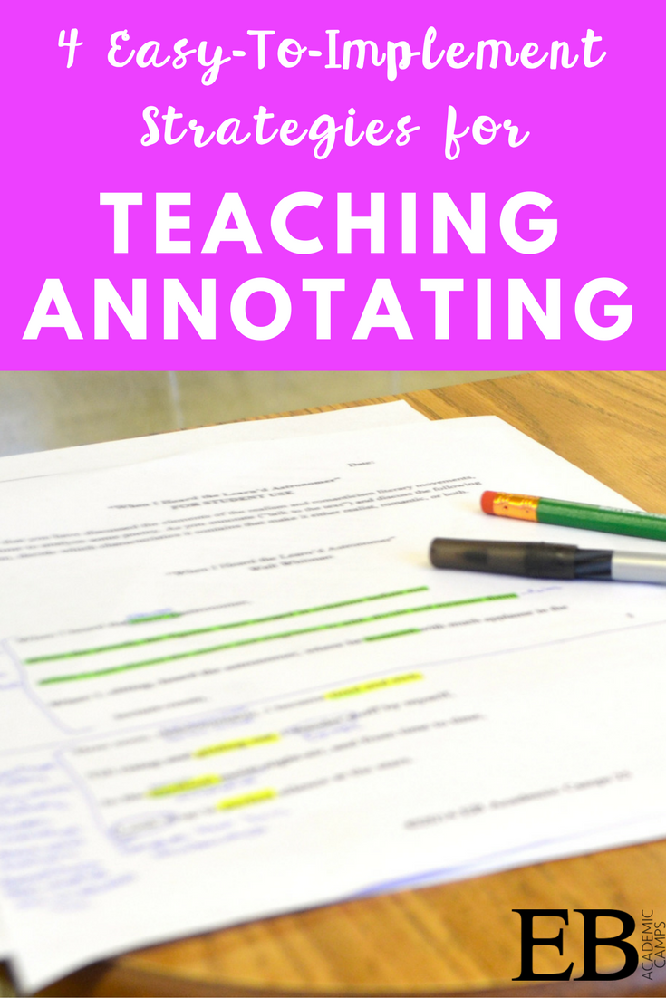 Easy To Implement Tips For Teaching Your Students How To Annotate  Correctly Perfect Tips For
