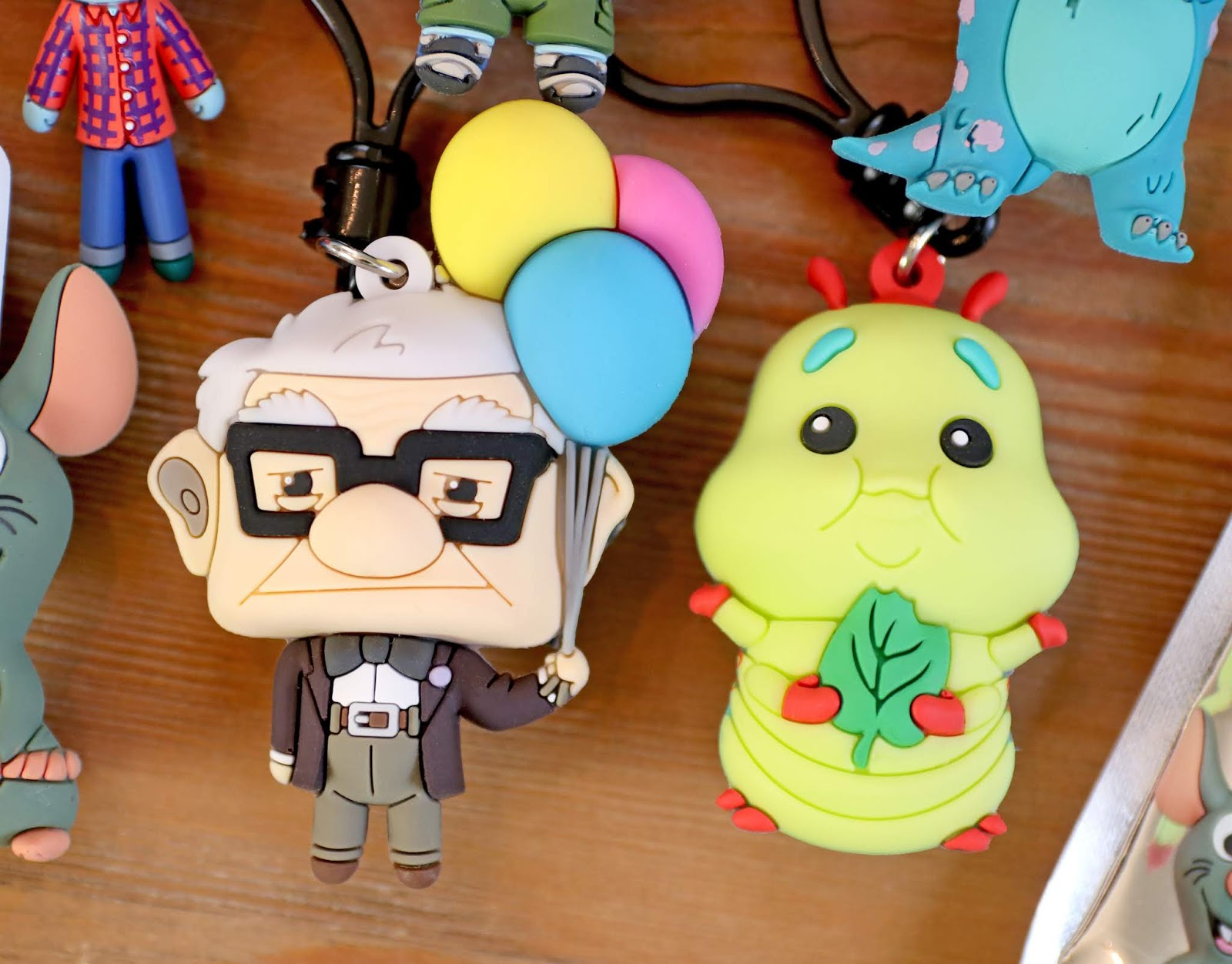 monogram figural bag clip blind bags pixar series