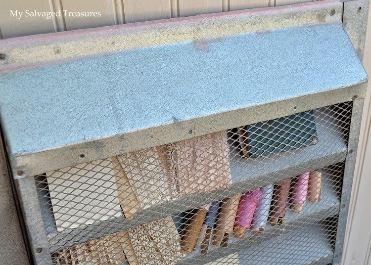 repurposed attic vent cover