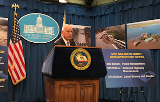 California Gov. Jerry Brown Proposes speeding Up Water And Flood-Protection Projects After The Winter's Big Storms