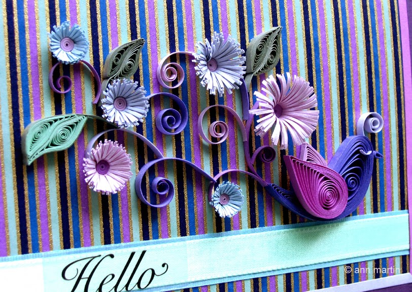 Quilled Bird Card by Ann Martin