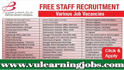 Bahrain Airport Company Jobs | Jobs In Middle East