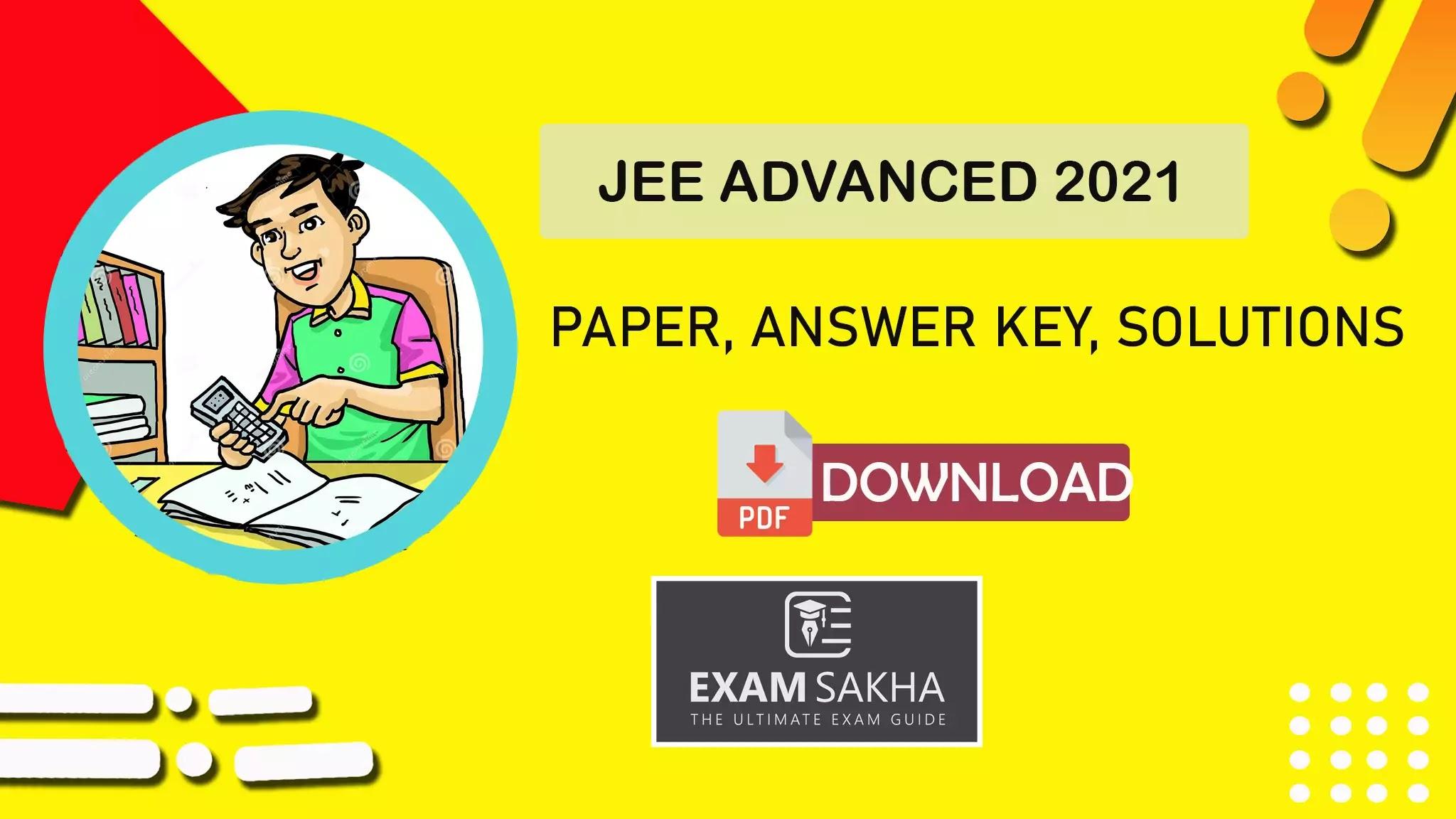 JEE Adv 2021 Paper download