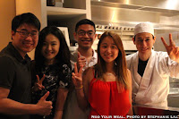 Alex, Margaret, Steph, Me, and Chef Kevin Cory at NAOE