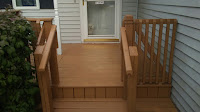 Front view of porch refinished.