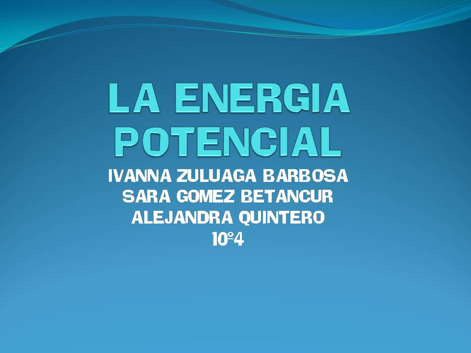 energia potencial: energia potencial