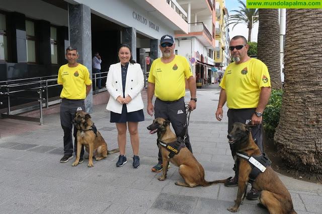 Una quincena de perros de rescate se someten a pruebas nacionales de homologación este fin de semana en La Palma