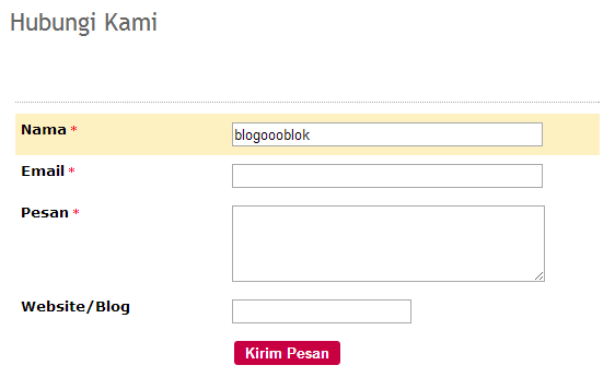 Contact Us Website >> Cara Membuat Layanan Contact Us Di Blog