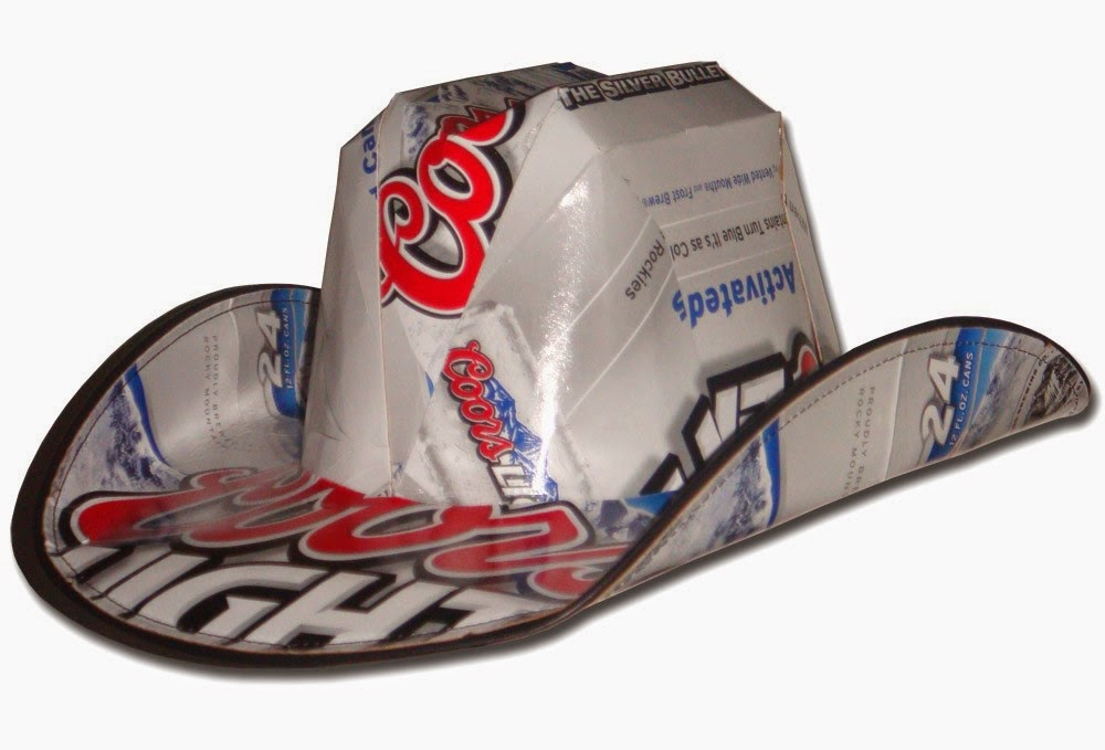 a18d0f33ec7 Recycled Cowboy s Hat. Recycling beer box ...