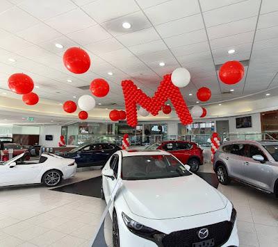 Mazda - Product Promotion  Decor by Chris Adamo of The Balloon Crew in Sydney, Australia