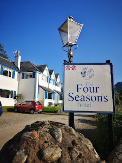 Outside The Four Seasons Hotel St Fillans photo by What Claire Did
