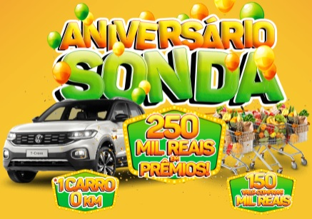 Cadastrar Promoção Aniversário 2020 Sonda - 46 Anos 250 Mil Reais em Prêmios