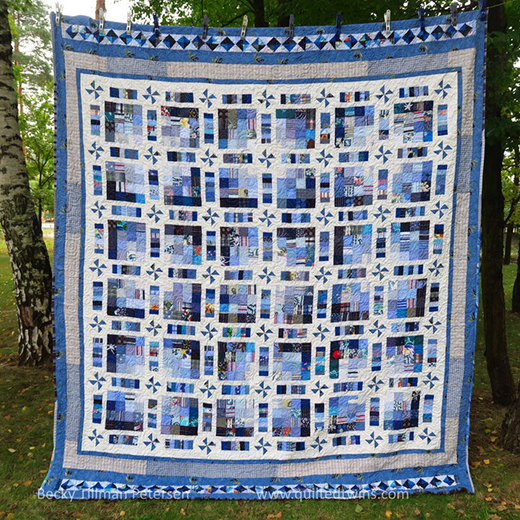 Pinwheel Fantasy Quilt Designed by Becky Petersen of Quilted Twins