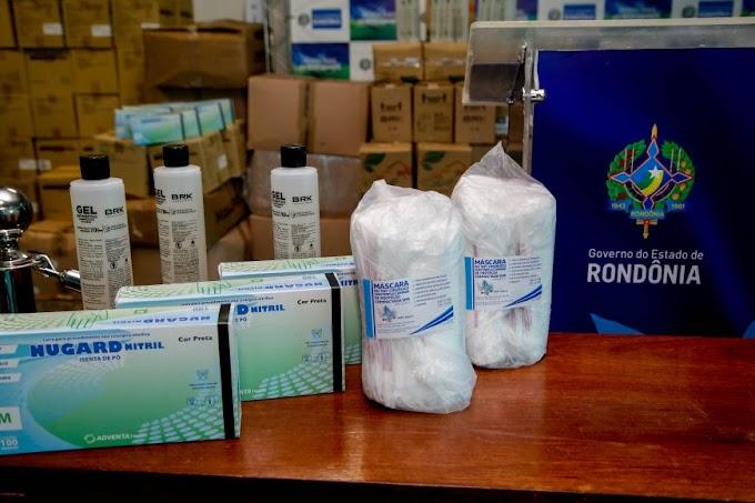 Mais de 1,5 milhão de equipamento de proteção individual foi distribuído para combater a Covid-19 em Rondônia