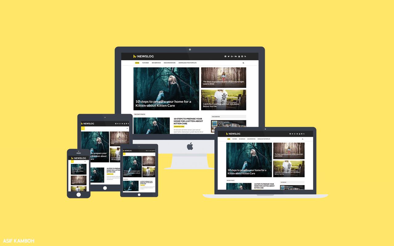 NewsLog Premium Blogger Template