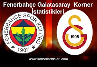 Fenerbahçe-Galatasaray Korner İstatistikleri
