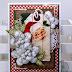 Santa Tag Christmas Greeting Card by Ginny