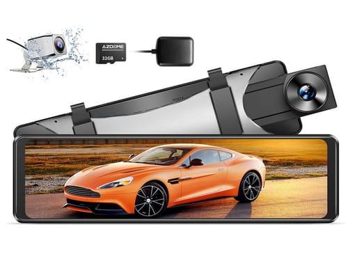 AZDOME IPS Full Touch Screen 2.5K Mirror Dash Cam