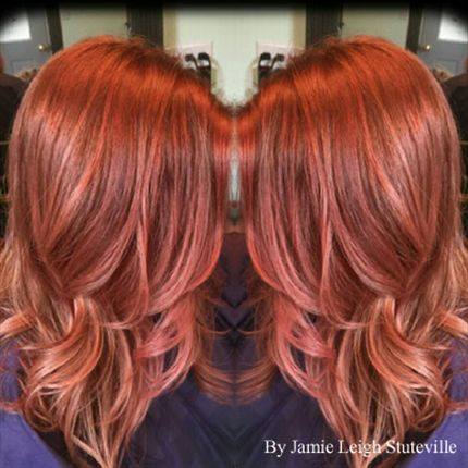 Rose Gold Red Hair Color Famous Hair Dye 2018
