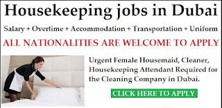 Housekeeper Job in Dubai   Salary AED 2001-2500
