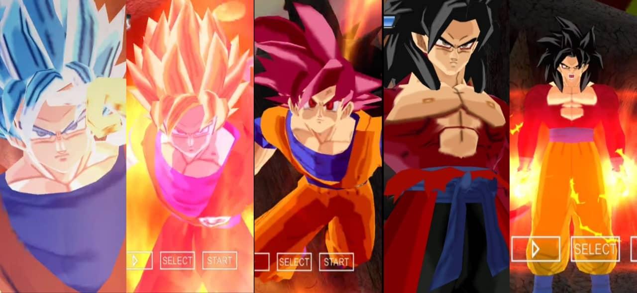 DBZ BT3 MOD Goku All Forms