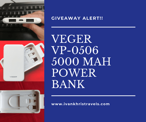 VEGER VP-0506 5,000 mAh power bank giveaway