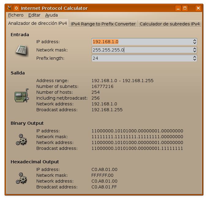 usuariodebian gip calculadora de direcciones ip