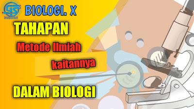 tahapan metode ilmiah, rujukan biologi mengenai metode ilmiah