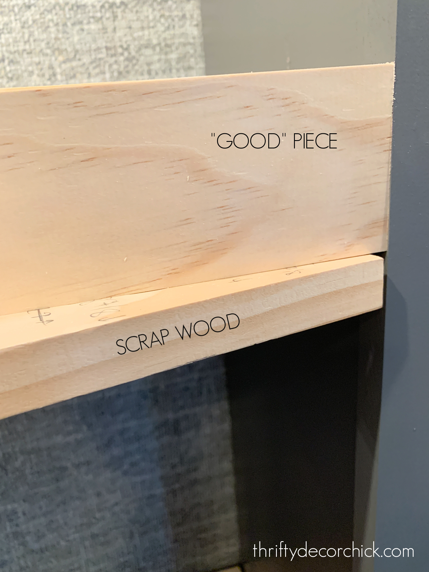 using scrap wood to install tight wood