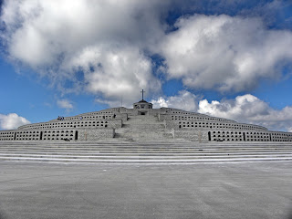 The monument to Italian partisans killed in battle at the summit of Monte Grappa