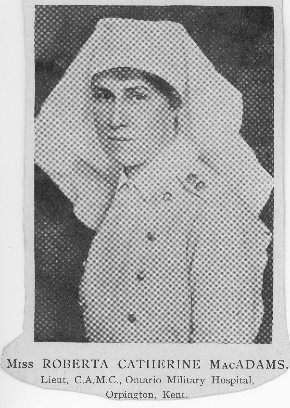 Nursing Sister Phillips WW 1 Album Roberta MacAdams Loose Photo 1
