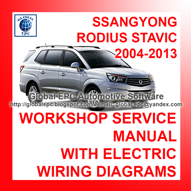 Automotive Repair Manuals  Ssangyong Rodius Stavic 2004
