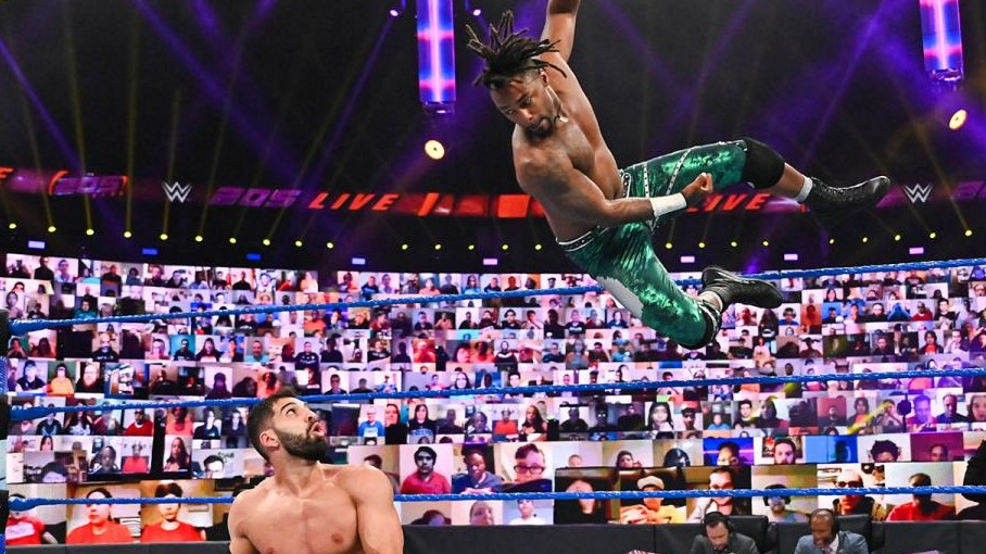 "Isaiah ""Swerve"" Scott and Ariya Daivari on WWE 205 Live"