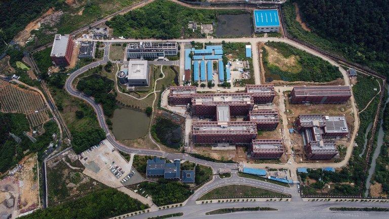 Muestra aérea del laboratorio P4 en el campus del Instituto de Virología de Wuhan / AFP
