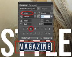 Membuat sampul majalah di photoshop