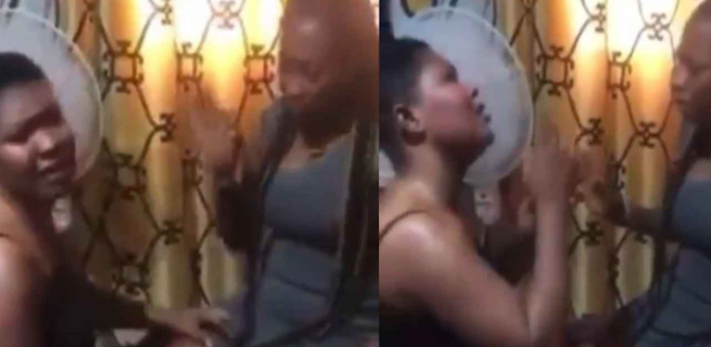 Heartbroken lesbian begs partner not to leave her (video)