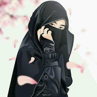 kumpulan anime kartun muslimah bercadar