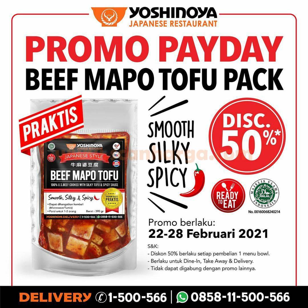 YOSHINOYA Spesial Promo PAYDAY Diskon 50%