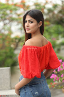 Rhea Chakraborty in Red Crop Top and Denim Shorts Spicy Pics ~  Exclusive 194.JPG